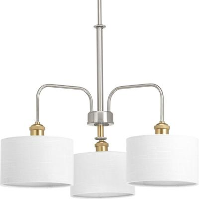 Cordin Collection 3-Light Brushed Nickel Chandelier with Shade