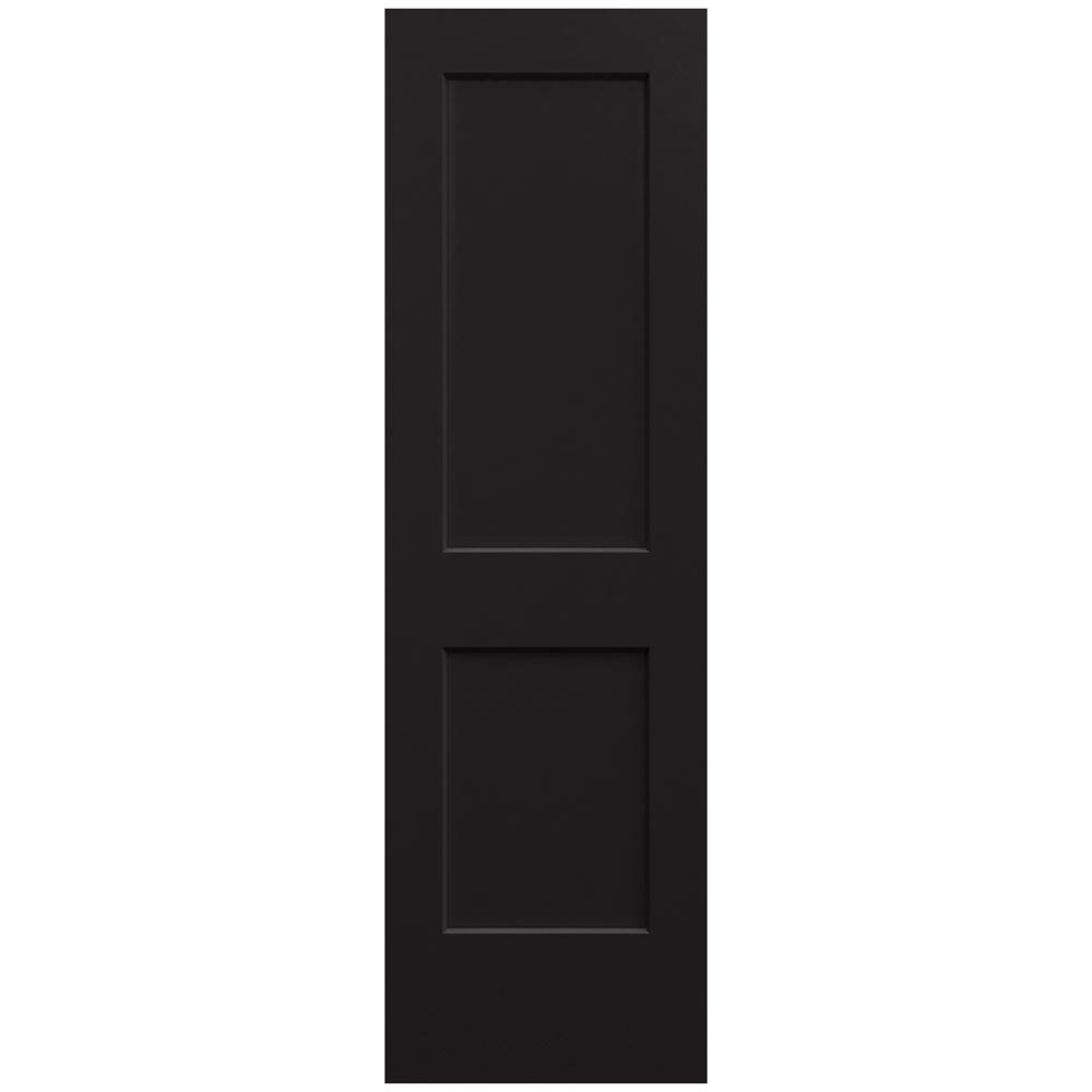 Jeld Wen 24 In X 80 In Monroe Black Painted Smooth Solid Core Molded Composite Mdf Interior