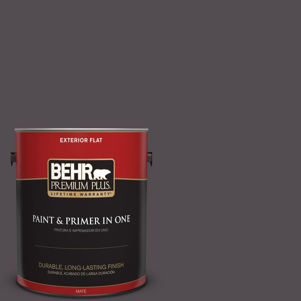 1-gal. #N570-7 Black Elegance Flat Exterior Paint