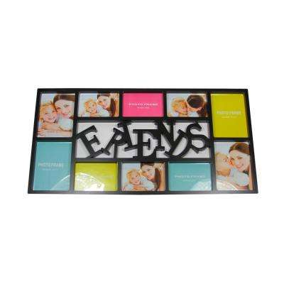 28.75 in. Black Dual-Sized Friends in Photo Picture Frame Collage Wall Decoration