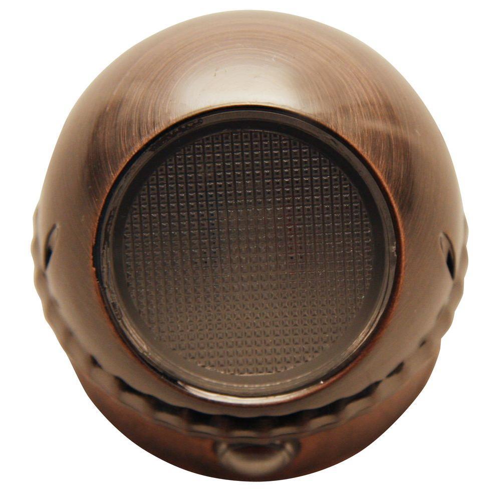 Meridian 0.3-Watt Brushed Copper Rotating Spot LED Night Light