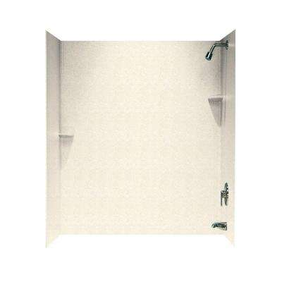 30 in. x 60 in. x 72 in. 3-Piece Easy Up Adhesive Corner Tub Wall in Pebble