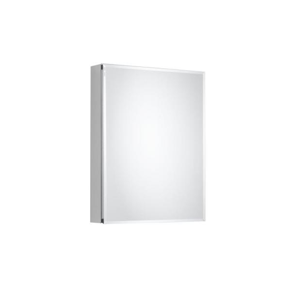 20 in. x 26 in. Recessed or Surface-Mount Bathroom Medicine Cabinet with Beveled Mirror in Silver