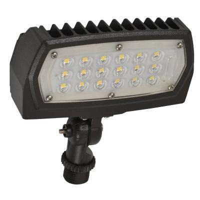 12-Watt Bronze Outdoor Integrated LED Flood Light