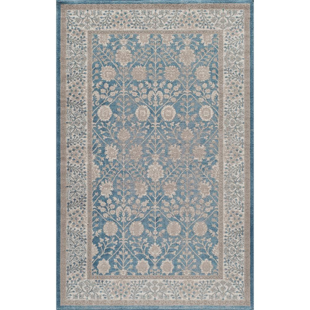 Kerman Blue 2 ft. x 3 ft. Indoor Area Rug