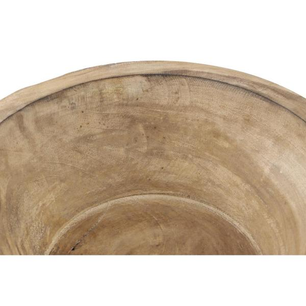 White Wooden Decorative Bowl
