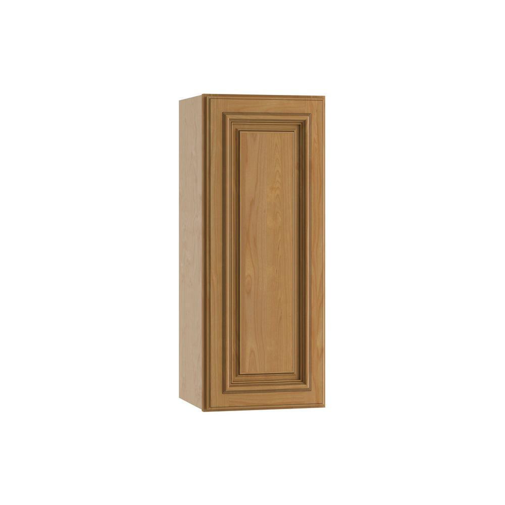 Clevedon Assembled 12x30x12 in. Single Door Hinge Right Wall Kitchen Cabinet