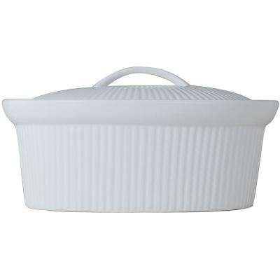Bianco 2.5 Qt. Ceramic Casserole Dish with Lid