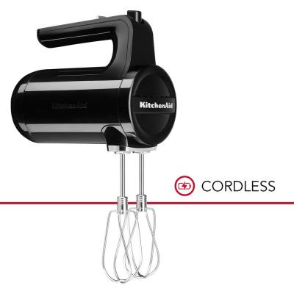 Cordless 7-Speed Onyx Black Hand Mixer