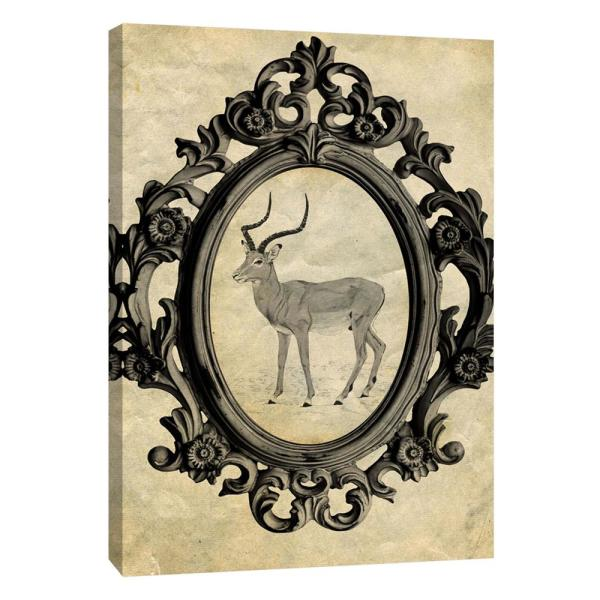 PTM Images 12 in. x 10 in. ''Framed Gazelle'' Printed Canvas