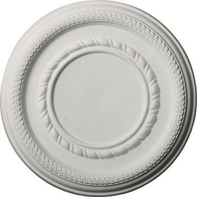 12-5/8 in. OD x 1-1/8 in. P (Fits Canopies up to 6 in.) Federal Roped Small Ceiling Medallion