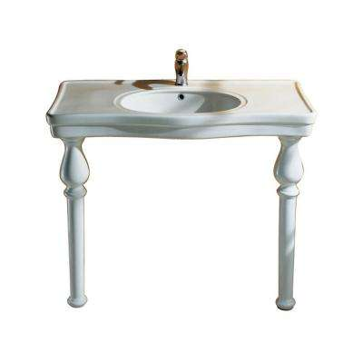 Milano Deluxe Console Table in White