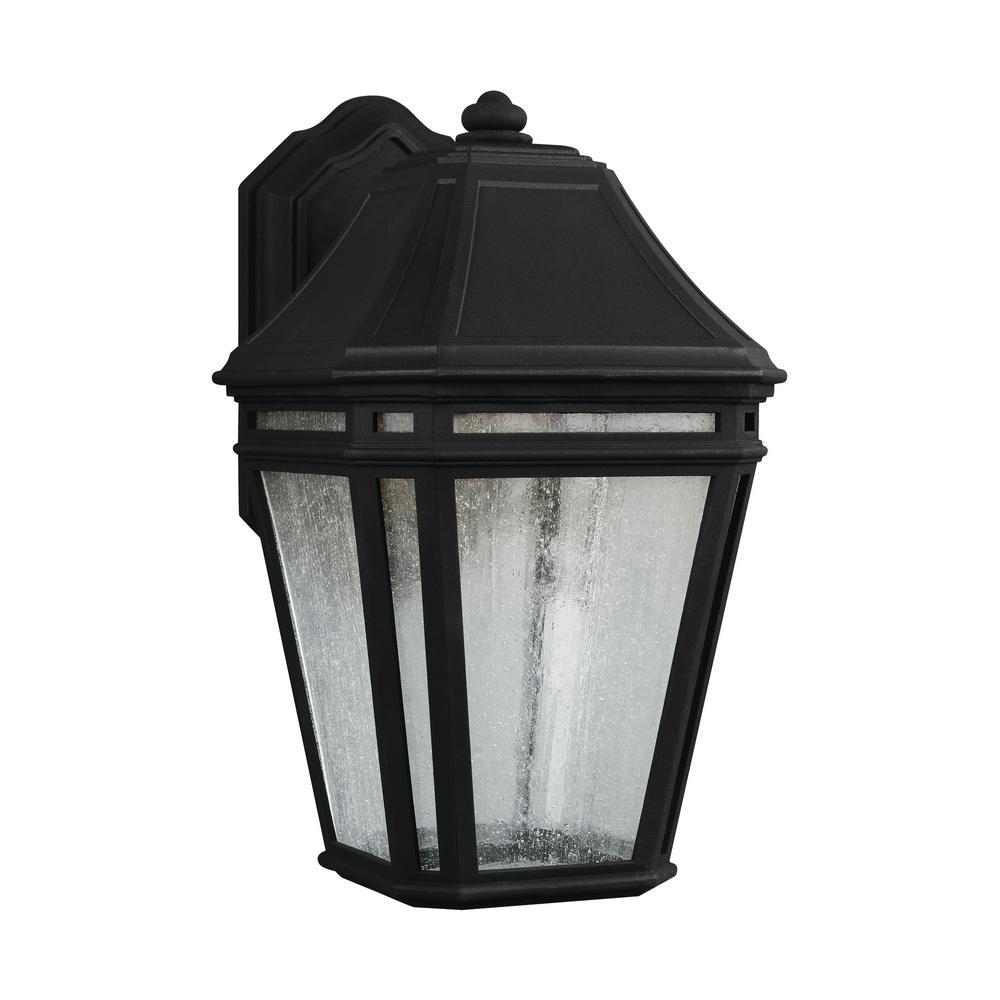 Londontowne 1-Light Black Outdoor Integrated LED Wall Mount Lantern