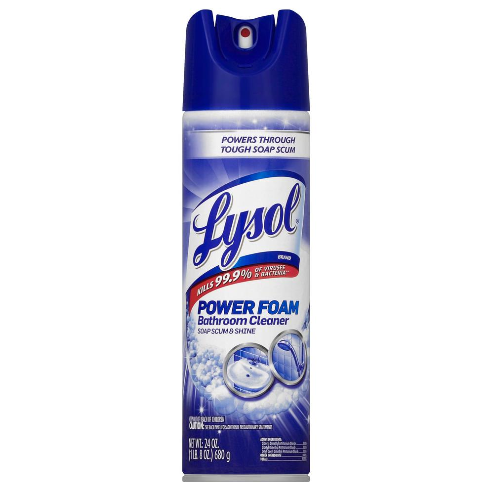Lysol 24 Oz Bathroom Cleaner Aerosol 19200 02569 The Home Depot