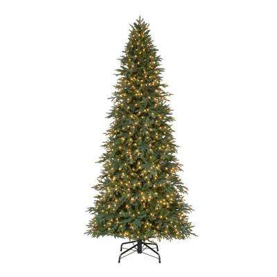 10 ft. Pre-Lit LED Meadow Quick-Set Artificial Christmas Tree with Warm White Lights
