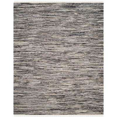 8 X 10 Gray Striped Area Rugs The Home Depot 8x10 Cotton Rag Rug Ehsani Fine