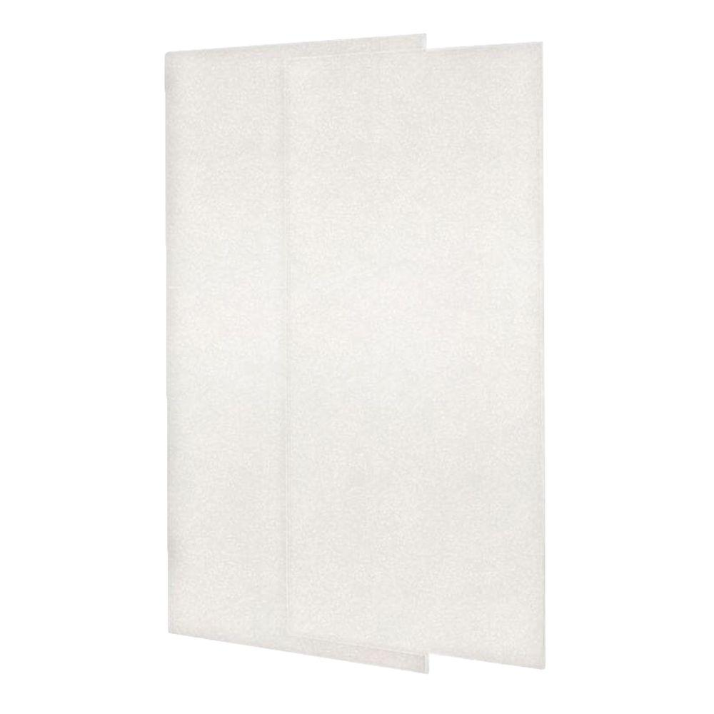 Glue On Wall Panels : Swan in piece easy up adhesive shower wall