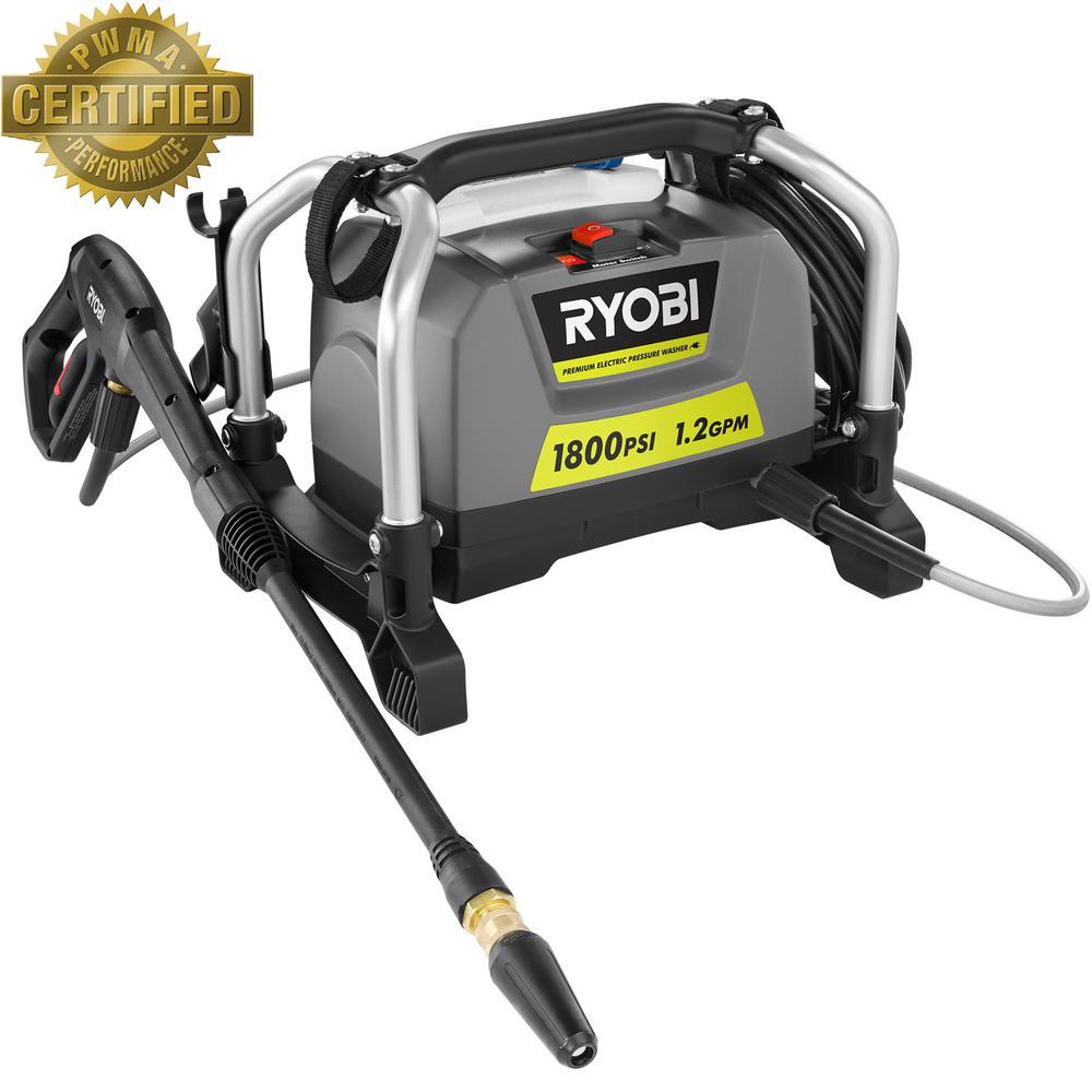Ryobi 1,800 psi 1.2 GPM Electric Pressure Washer