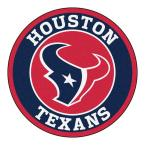 NFL Houston Texans Navy 2 ft. x 2 ft. Round Area Rug