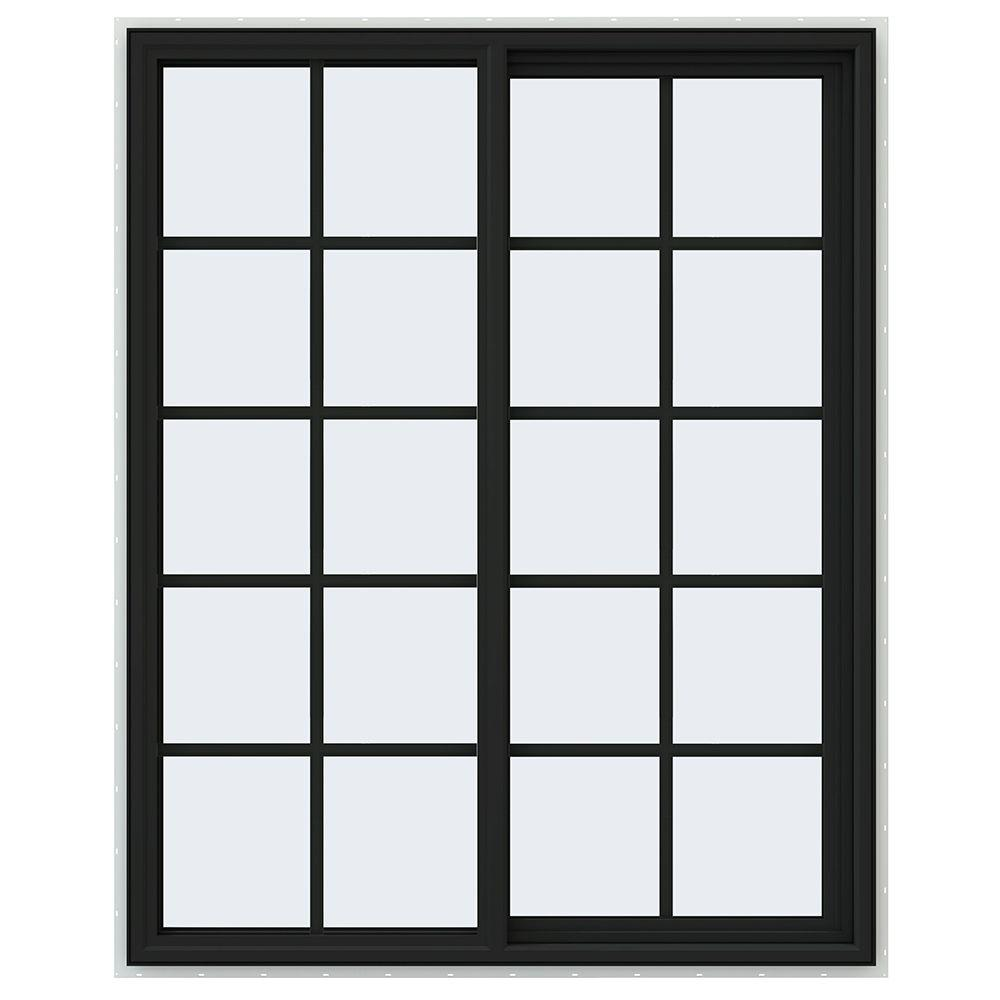 47.5 in. x 59.5 in. V-4500 Series Right-Hand Sliding Vinyl Window