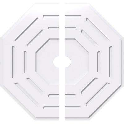 40 in. OD x 4 in. ID x 1 in. P Westin Architectural Grade PVC Contemporary Ceiling Medallion (2-Piece)