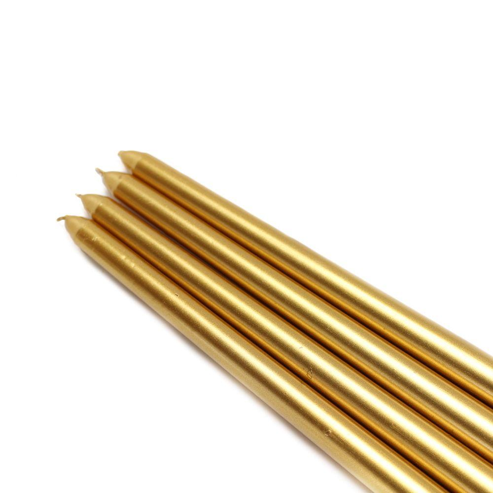 12 in. Metallic Gold Taper Candles (12-Set)
