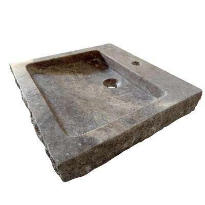 Anthony Vessel Sink in Tavertine Stone