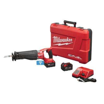M18 FUEL 18-Volt Cordless Lithium-Ion Brushless Sawzall with ONE-KEY 2 Bat Kit