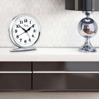 5.50 in. Round Wind-Up Loud Bell Chrome Alarm Clock