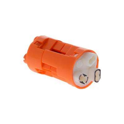 Model 103X, PowerPlug Luminaire Disconnect, 3 Wire in Orange (100 per Jar)
