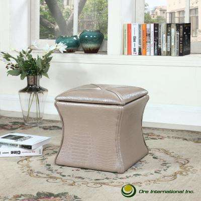 Ivory Croc Svelte Storage Seating