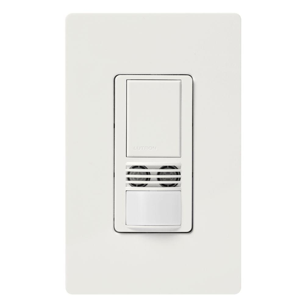 Maestro Dual-Tech Motion Sensor switch, 6-Amp, Single-Pole, White