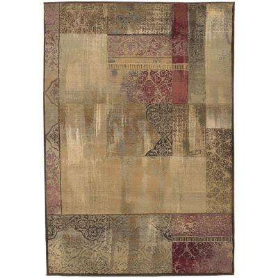 New Country Beige/Sage 5 ft. x 8 ft. Area Rug