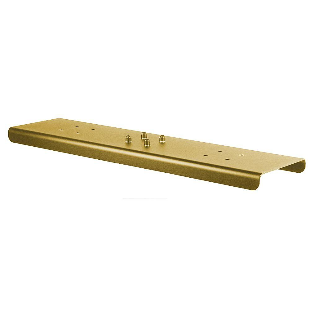 2-Wide Spreader for Salsbury Designer Roadside Mailboxes in Brass