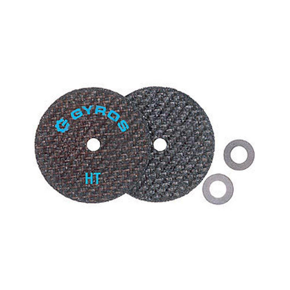 Gyros Fiber Disks HT 2-1/2 in. Diameter Reinforced Cut Off Wheels (Set of 2)