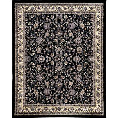 Sialk Hill Washington Black 8' 0 x 10' 0 Area Rug
