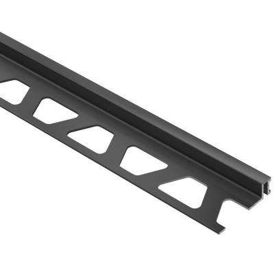 Dilex-BWA Black 1/4 in. x 8 ft. 2-1/2 in. PVC Movement Joint Tile Edging Trim