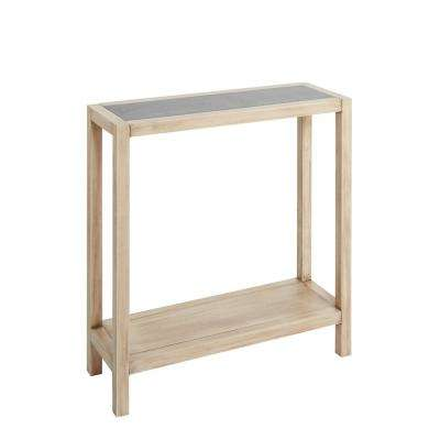 Mallory Natural and Gunmetal Gray Wood Console Table