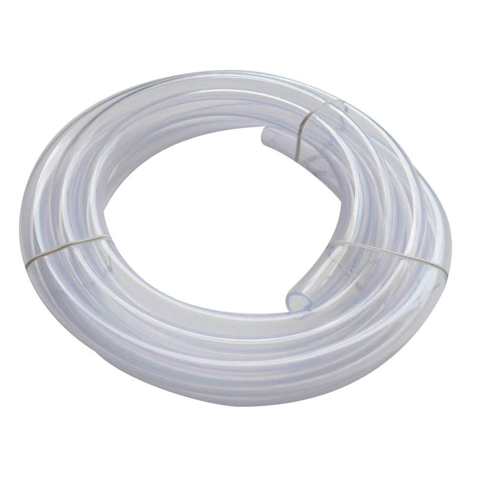 Everbilt 5/8 in. O.D. x 1/2 in. I.D. x 10 ft. PVC Clear Vinyl Tubing