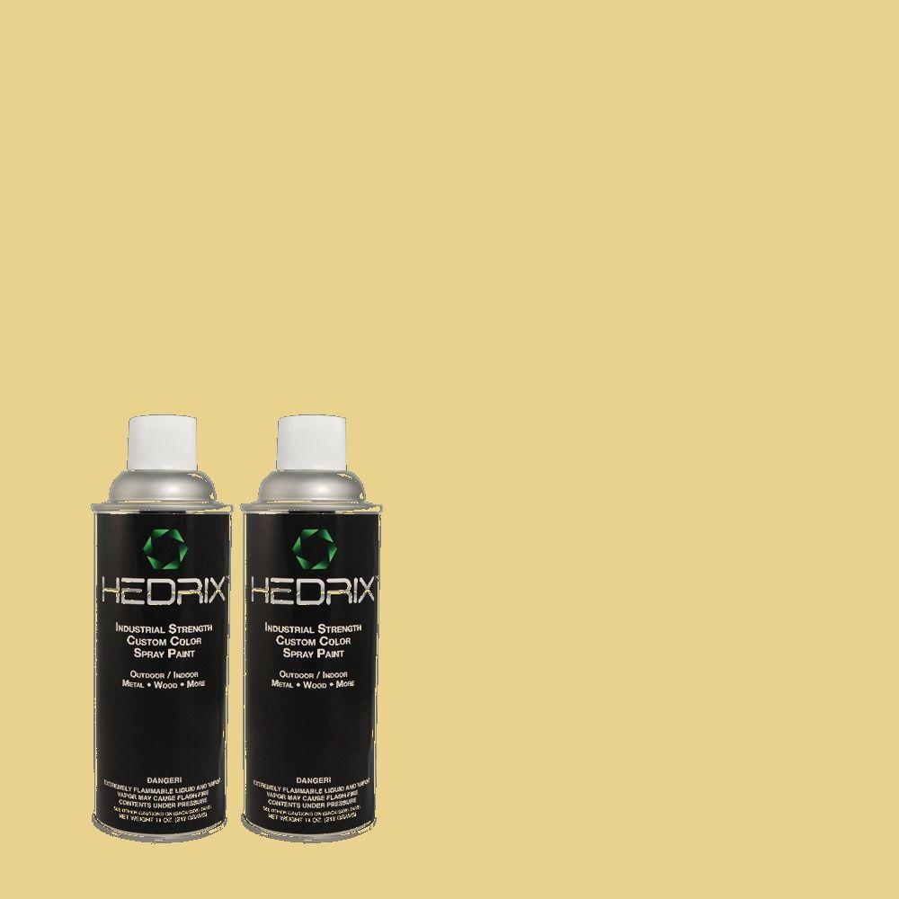 Hedrix 11 oz. Match of 2A3-4 Summer Pear Semi-Gloss Custom Spray Paint (2-Pack)