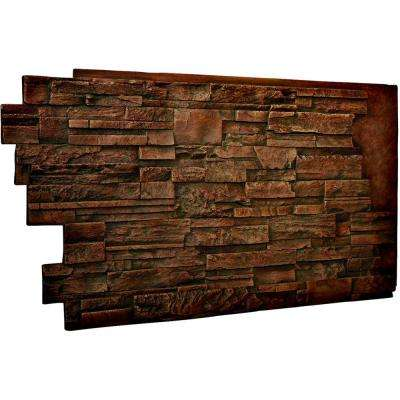 1-1/2 in. x 48 in. x 25 in. Mocha Urethane Dry Stack Stone Wall Panel