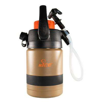 Pump2Pour 1/2 Gal. Brown Insulated Jug With Hose and Spout
