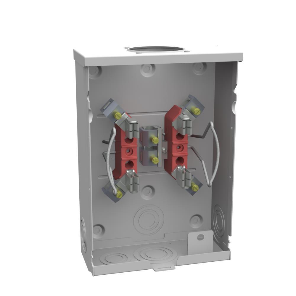 125 Amp 4 Terminal Ringless Overhead/Underground Meter Socket