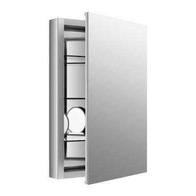 Verdera 20 in. W x 30 in. H Aluminum Medicine Cabinet with Adjustable Flip-Out Flat Mirror