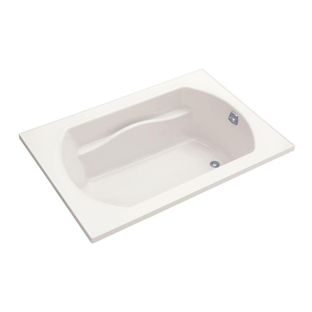 STERLING Lawson 60 in. x 42 in. Decked Drop Whirlpool Tub with Heater and Reversible Drain in Biscuit