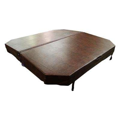 84 in. x 84 in. Octagonal Hot Tub Cover with 5 in./3 in. Taper - Chestnut
