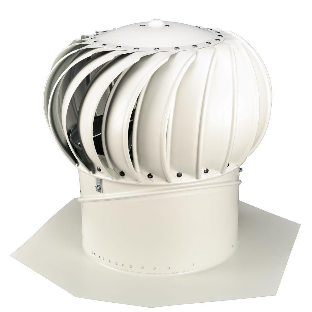 Whirlybird 12 In White Aluminum Internally Braced Wind