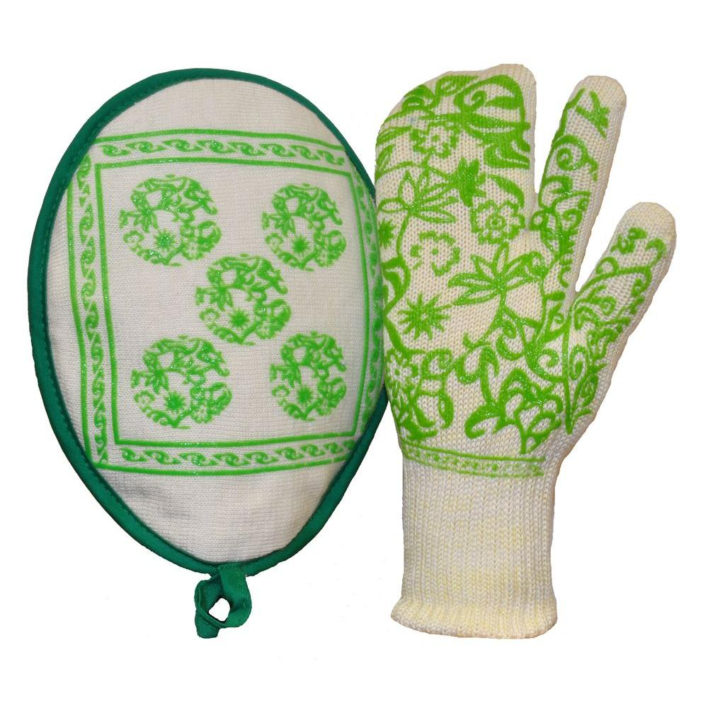 G & F Products DuPont Nomex Heat Resistant Fiber Oven Mitt (2-Pack)