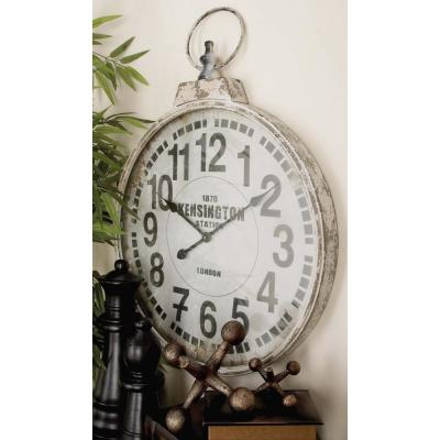 32 in. x 24 in. London Inspired Antique Round Wall Clock