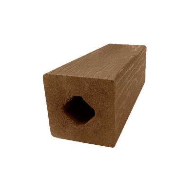 Vantage 4-1/4 in. x 4-1/4 in. x 51 in. Bridle Solid Composite Square Post with Center Chase